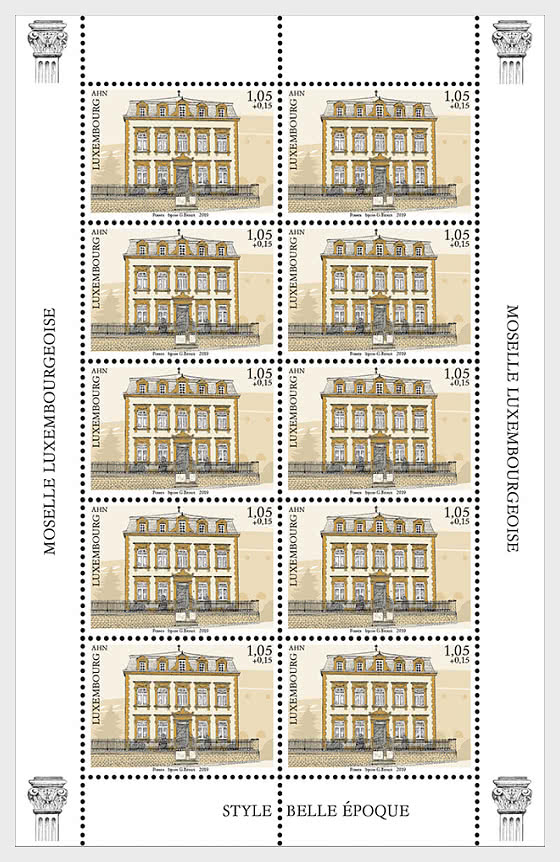 2019 Charity Stamps - The Luxembourg Moselle Region - Ahn Sheetlet - Sheetlets