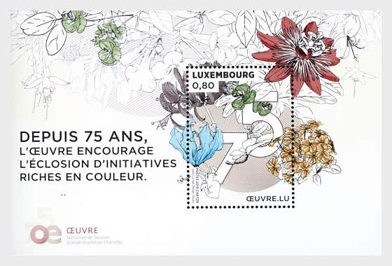 75 Years - 'Œuvre Nationale de Secours Grande-Duchesse Charlotte' - Miniature Sheet