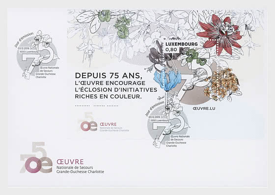 75 Years - 'Œuvre Nationale de Secours Grande-Duchesse Charlotte' - First Day Cover