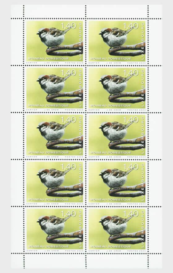 Rare Birds 2020 - House Sparrow Sheetlet - Sheetlets