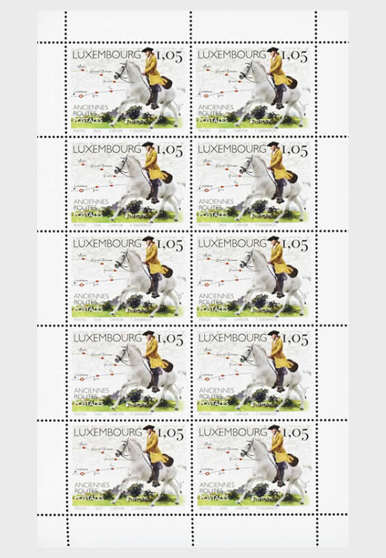 Europa 2020 - Old Postal Routes - Sheetlet of €1.05 - Sheetlets
