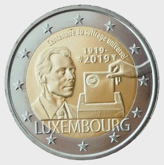 2 Euro 2019 100 years of Universal Suffrage - Single Coin