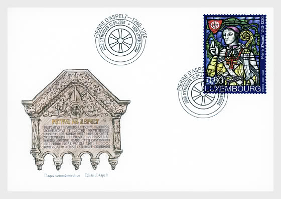 700 Years Peter of Aspelt - First Day Cover