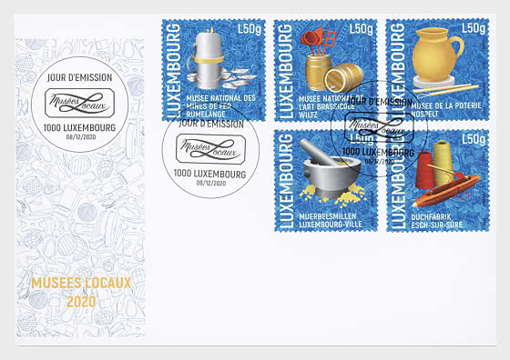 Local Museums in Luxembourg - First Day Cover