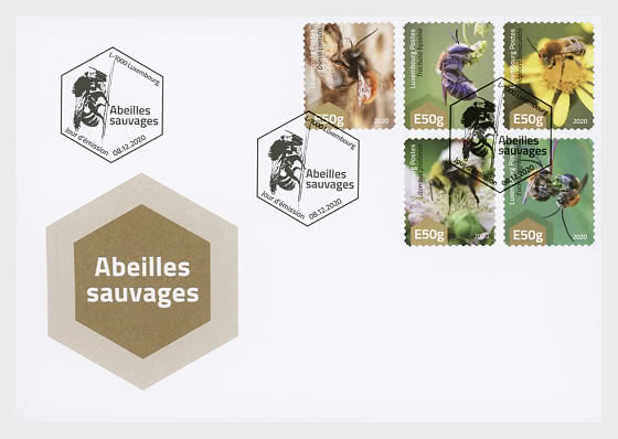 E50g Wild Bees - First Day Cover