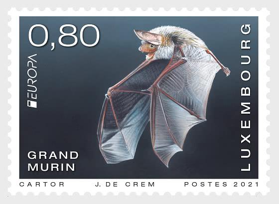 Europa 2021 - Endangered National Wildlife - Greater Mouse-Eared Bat - Set