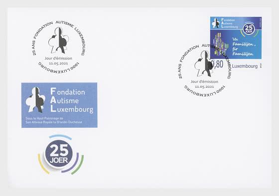 25 Jahre Autismus der Stiftung Luxemburg - Ersttagbriefe