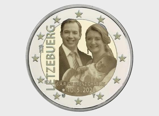 2 Euro - Birth of Prince Charles (Photo) - Single Coin