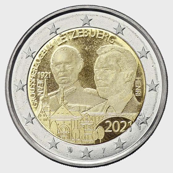 2 Euro - 100 Years of Grand Duke Jean (Photo) - Single Coin