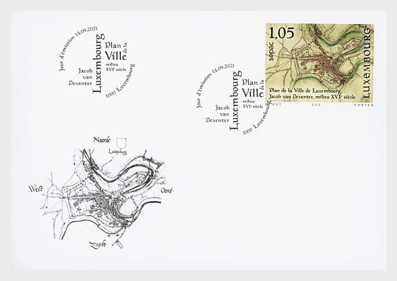 SEPAC 2021 - Historical Maps - First Day Cover