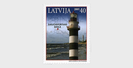 2005年拉脱维亚的灯塔 - 套票