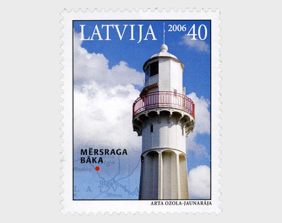 Lighthouses of Latvia 2006 - Mersraga Baka - Set