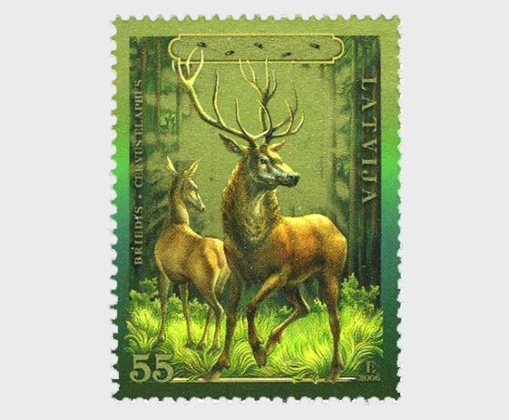 Animals of Latvia – Deer, 2006 - Set
