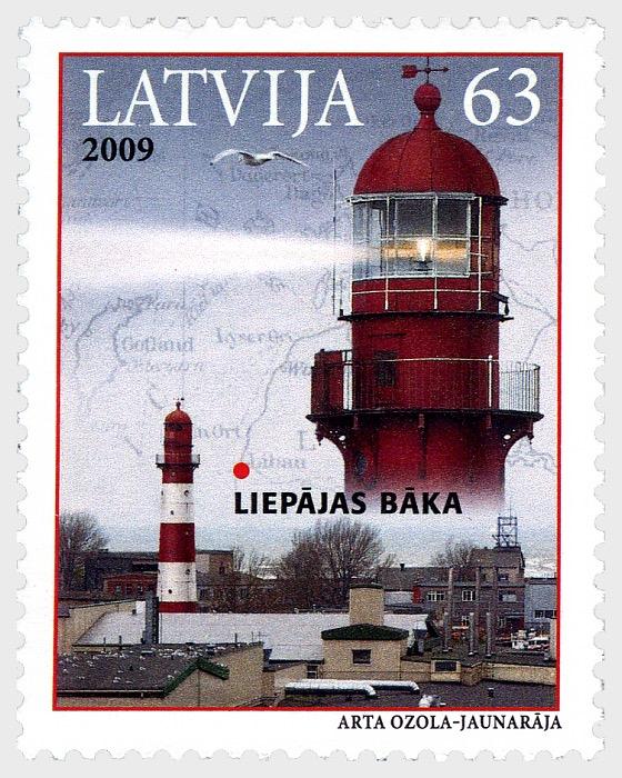 Lighthouses of Latvia - Liepaja's lighthouse, 2009 - Set