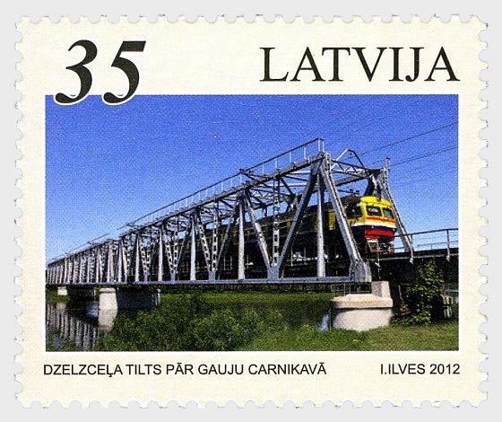 2012年波罗的海国家铁路桥 - 套票