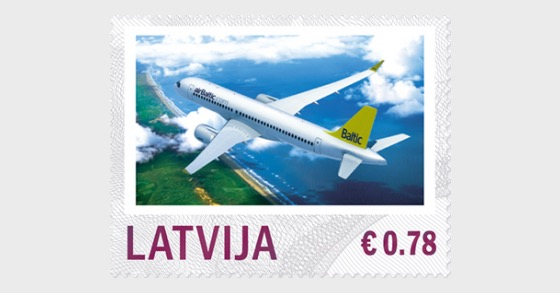 Personalisierte Briefmarke - Flugverkehr 2014 - Serie