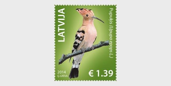 Latvian birds - Hoopoe 2014 - Set