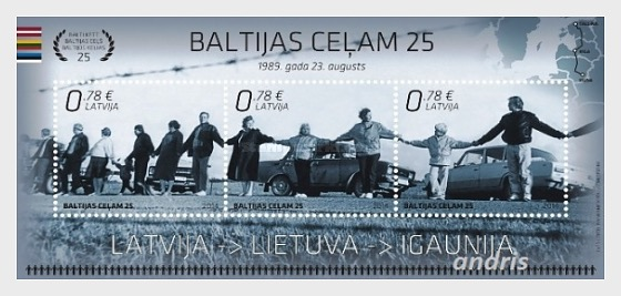 Baltic Way - 25th 2014 - Miniature Sheet
