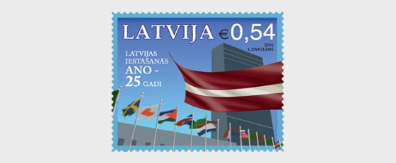 25th Anniversary of the Latvian accession to the United Nations - Set