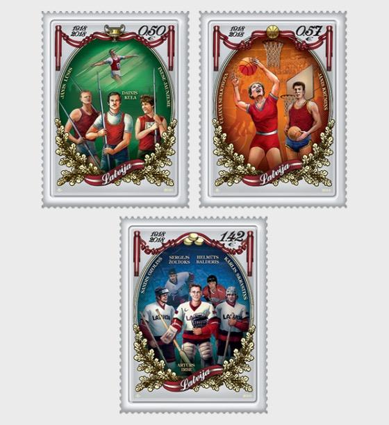 拉脱维亚共和国100 - 套票