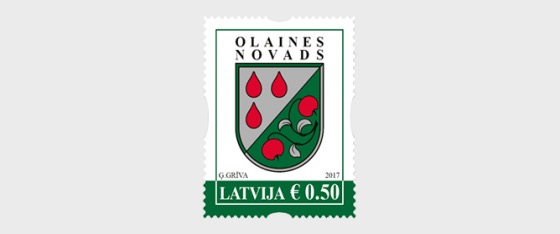 Latvian county and city coats of arms - Olaine district, 2017 - Set