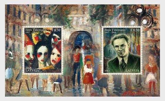 Janis Tidemanis - Miniature Sheet
