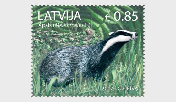 Animals of Latvia - European Badger - Set