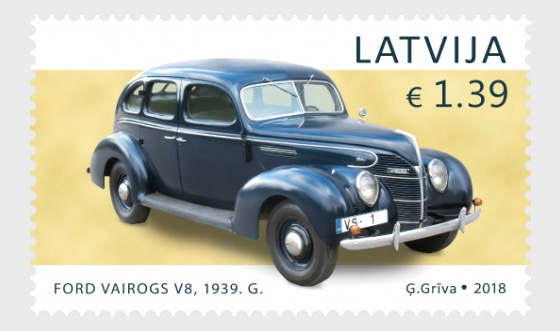 History of Automobiles (Ford Vairogs V8) - Set