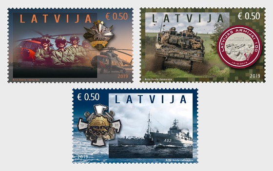 100th Anniversary of Latvian National Armed Forces - Set