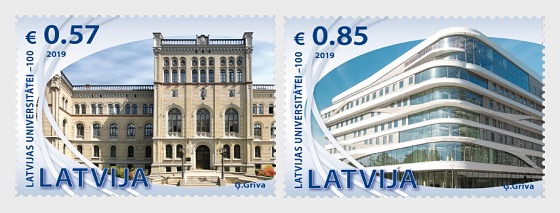 100th Anniversary of the University of Latvia - Set
