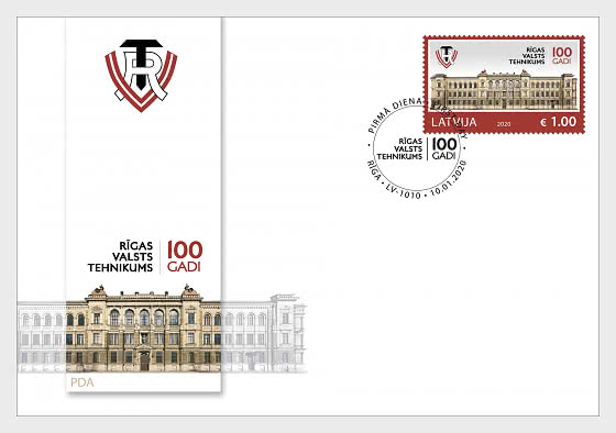 Centenary of Riga State Technical School - First Day Cover