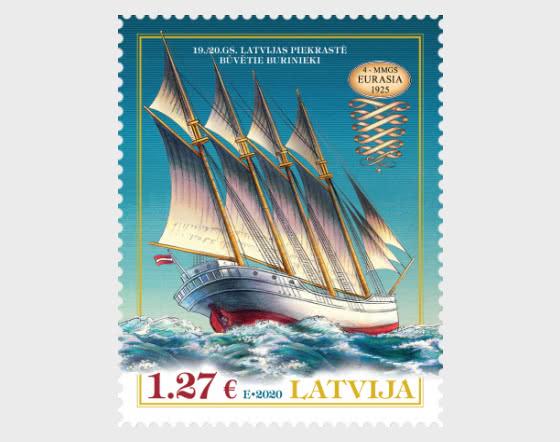 十九世纪历史船 - 欧亚大陆 - 套票
