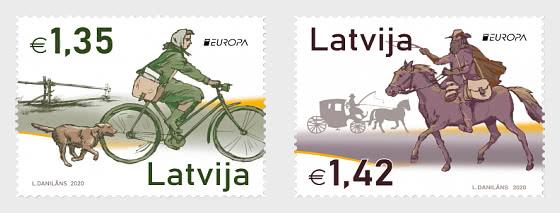欧洲2020年-古代邮政路线 - 套票