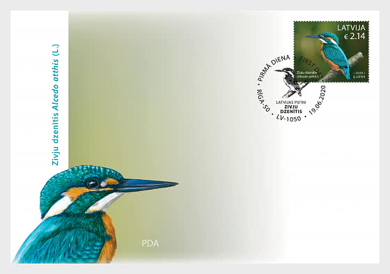 Birds - Common Kingfisher - First Day Cover single stamp