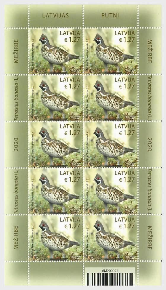 Birds - Hazel Grouse - Sheetlets