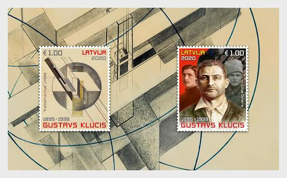 艺术家古斯塔夫斯·克鲁西斯(Gustavs Klucis) - 小型张