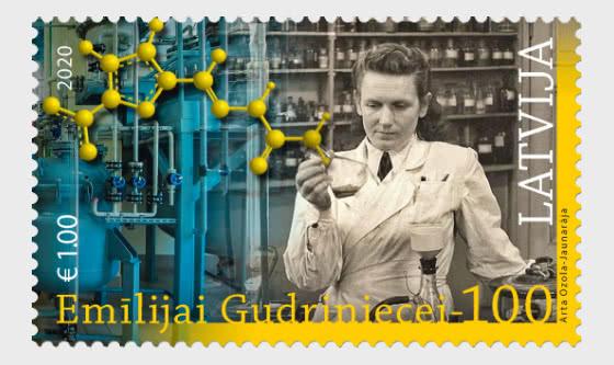 葛德里尼丝(E.Gudriniece)诞辰100周年 - 套票