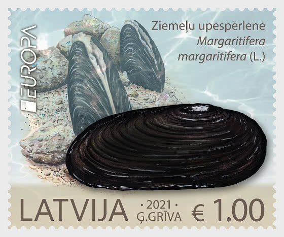 Europa 2021 - Endangered National Wildlife - The Freshwater Pearl Mussel  - Set