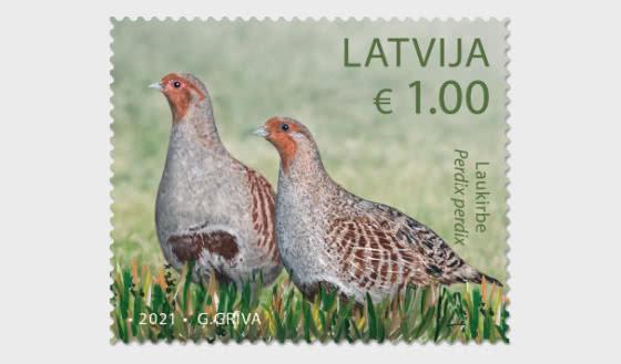 拉脱维亚鸟类 - 套票