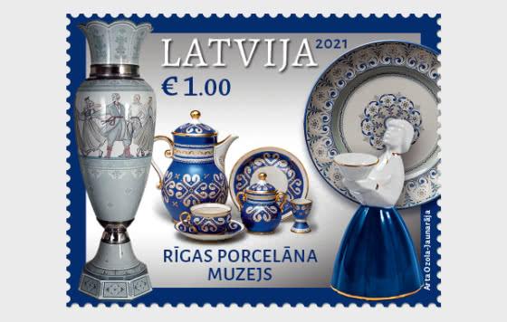 拉脱维亚博物馆 - 瓷器博物馆 - 套票