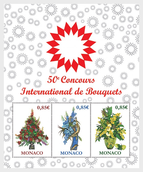 50th International Bouquet Competition - Miniature Sheet