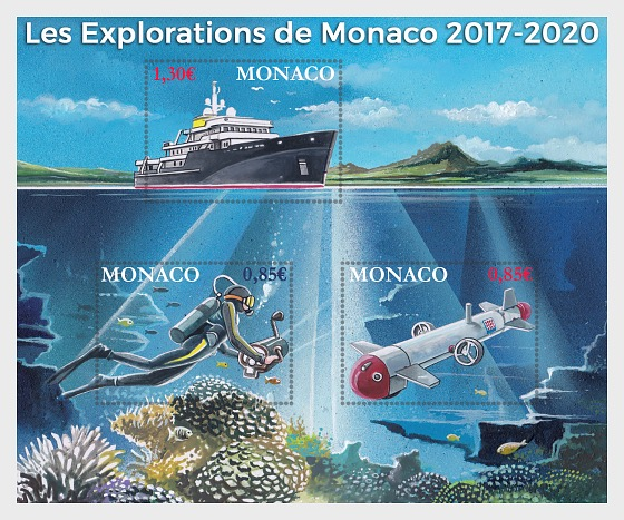 Monaco Explorations - (M/S Mint) - Miniature Sheet
