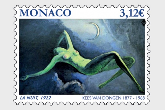 The Nude in Art - La Nuit 1922 - (Stamp Mint) - Set