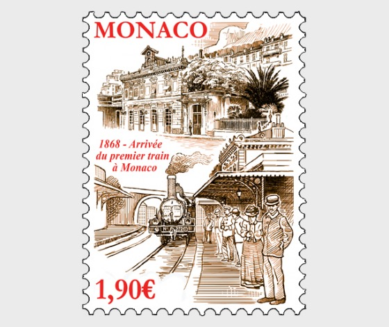 150 Years Since the Arrival of the First Train in Monaco - (Set Mint) - Set