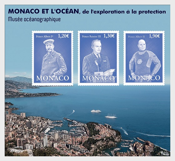 Monaco and The Ocean, From Exploration to Preotection - (M/S Mint) - Miniature Sheet