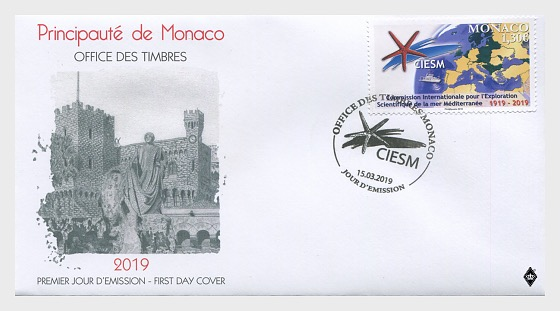 Centenary of the Ciesm - First Day Cover