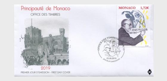 150 Aniversario del Nacimiento de Henri Matisse - Sobre de Primer Dia