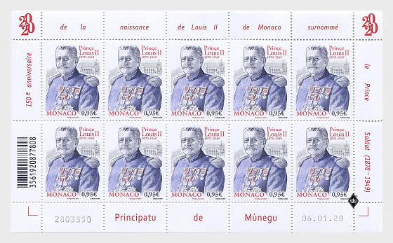150th Anniversary of the Birth of Prince Louis II - Sheetlets