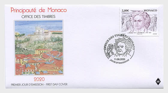 250th Anniversary of the Birth of Ludwig Van Beethoven - First Day Cover