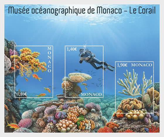 Oceanographic Museum Of Monaco – The Coral Reef - CTO - Miniature Sheet CTO